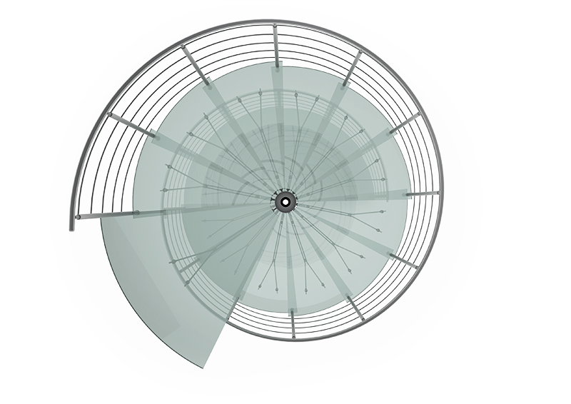 Scale Spiral Glass